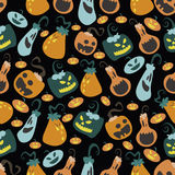 Halloween pumpkin pattern 03 Royalty Free Stock Image