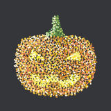 Halloween pumpkin point Royalty Free Stock Image