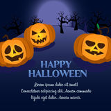Halloween pumpkin postcard Royalty Free Stock Photos