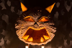 Halloween pumpkin. S Thailand ,Dark Tone Royalty Free Stock Images