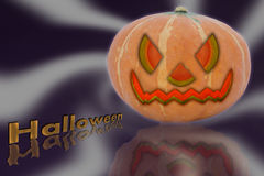 Halloween pumpkin on radial background Stock Images