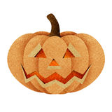 Halloween pumpkin recycled papercraft Royalty Free Stock Photo