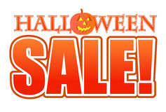Halloween pumpkin sale sign illustration Stock Photos