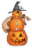 Halloween Pumpkin Scarecrow Royalty Free Stock Photo