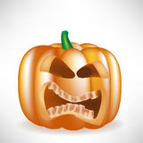 Halloween pumpkin scary face Royalty Free Stock Image