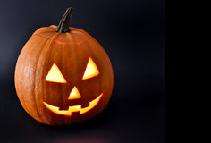 Halloween pumpkin with scary face Royalty Free Stock Photos