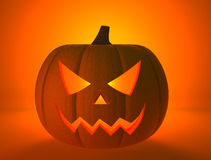 Halloween pumpkin with scary face Royalty Free Stock Photography