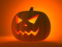 Halloween pumpkin with scary face Stock Image