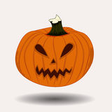 Halloween pumpkin. With scary face on white Royalty Free Stock Photography