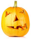 Halloween Pumpkin.Scary Jack O'Lantern Royalty Free Stock Photo
