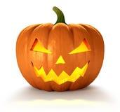 Halloween Pumpkin. Scary Jack O Lantern halloween pumpkin with candle light inside, 3d render Stock Images
