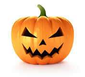 Halloween Pumpkin. Scary Jack O Lantern halloween pumpkin, 3d render Royalty Free Stock Photo