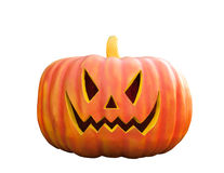 Halloween Pumpkin , Scary Jack O'Lantern, isolated on white with Royalty Free Stock Photography