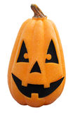 Halloween Pumpkin , Scary Jack O'Lantern, isolated on white  wit Stock Photos