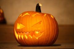 Halloween pumpkin with scary Stock Photo