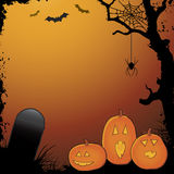Halloween Pumpkin Scary Scene Stock Images