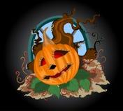 Halloween pumpkin scene Stock Images
