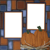 Halloween Pumpkin Scrapbook Page Frame Royalty Free Stock Image