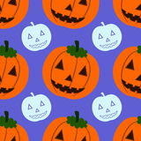 Halloween pumpkin seamless background design Stock Images