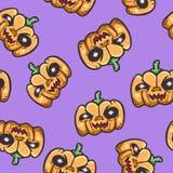 Halloween pumpkin seamless pattern background Royalty Free Stock Image