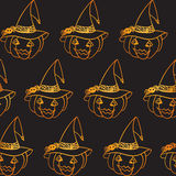 Halloween pumpkin seamless pattern Stock Image