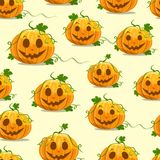 Halloween Pumpkin Seamless Pattern Royalty Free Stock Image