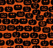 Halloween Pumpkin seamless pattern Stock Images