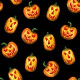 Halloween pumpkin seamless pattern royalty free illustration