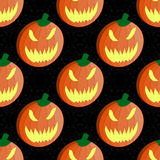 Halloween pumpkin seamless vector pattern background wallpaper Stock Photos