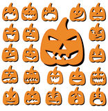 Halloween pumpkin set Stock Images