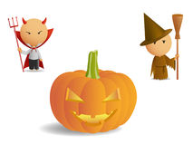Halloween pumpkin set Royalty Free Stock Photos