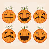Halloween pumpkin set Stock Photography