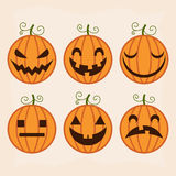 Halloween pumpkin set Stock Photo