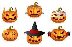 Halloween Pumpkin Set. Horror Persons; Vector Icon Set Royalty Free Stock Image
