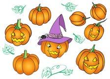 Halloween pumpkin set Royalty Free Stock Image