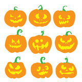 Halloween pumpkin set. Stock Images