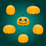 Halloween pumpkin set Stock Photography