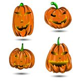 Halloween Pumpkin set  on white. Scary Jac Royalty Free Stock Photography