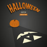 Halloween Pumpkin Shadow Concept. Abstract Background Royalty Free Stock Images