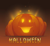 Halloween Pumpkin Shining Stock Images