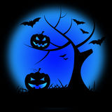 Halloween Pumpkin Shows Trick Or Treat And Branch Stock Image