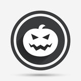 Halloween pumpkin sign icon. Halloween party. Royalty Free Stock Photos
