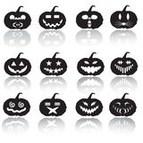 Halloween pumpkin silhouette collection Stock Photography