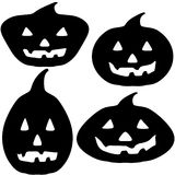 Halloween Pumpkin Silhouette Illustrations Stock Photos