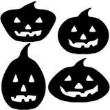 Halloween Pumpkin Silhouette Illustrations Stock Photos