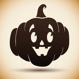 Halloween Pumpkin Silhouette Royalty Free Stock Images