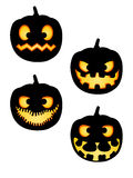 Halloween Pumpkin Silhouettes Pack Royalty Free Stock Photos