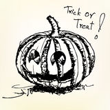Halloween pumpkin sketch vector Royalty Free Stock Photo