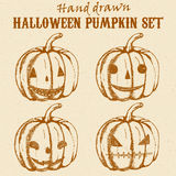 Halloween pumpkin sketches set Royalty Free Stock Photography