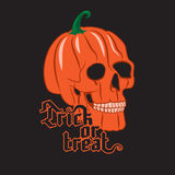 Halloween Pumpkin Skull Royalty Free Stock Images